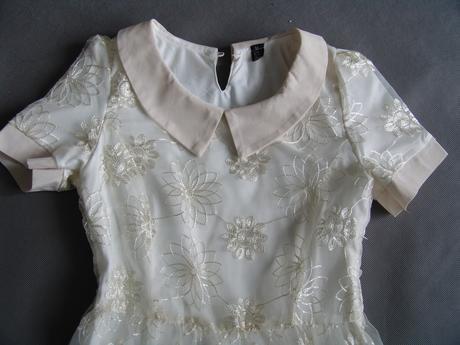 Krémové, ivory šaty pro družičky, 11-15 let, 152