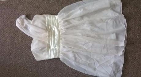 Krémové, ivory šaty pro družičky, společenské 3ks, 36
