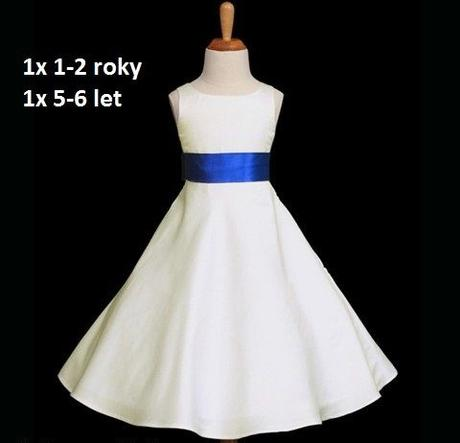 Krémové šaty pro družičky - 1-2 roky - půjčovné, 92