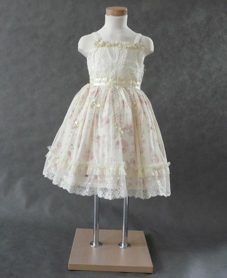 Krémové šaty pro družičky, 6-8 let, 116