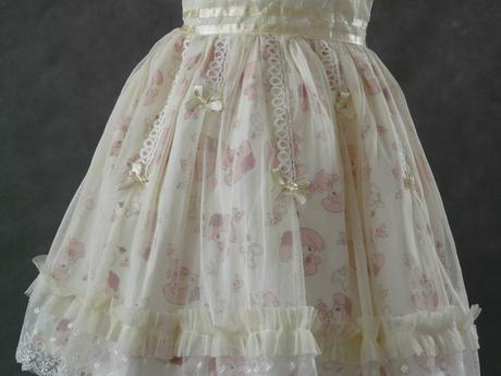 Krémové šaty pro družičky, 6-8 let, 128