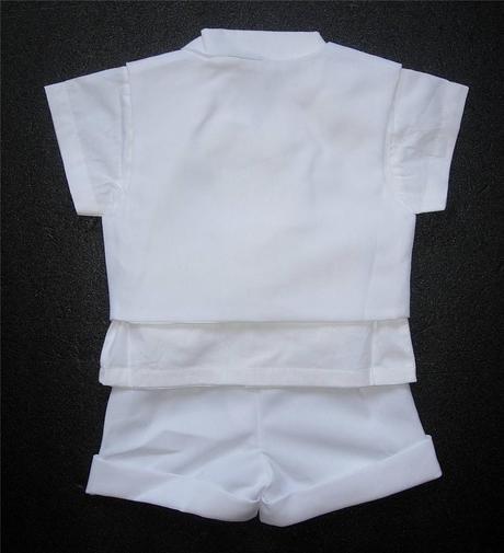 Letní bílý oblek pro miminko, 6-12 měsíců půjčovné, 74