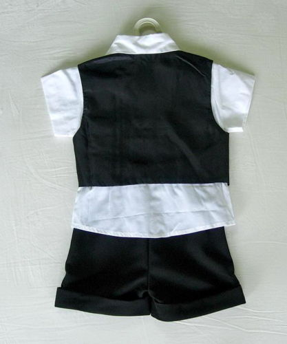 Letní černý oblek pro miminko, 6 měsíců až 3 roky , 68