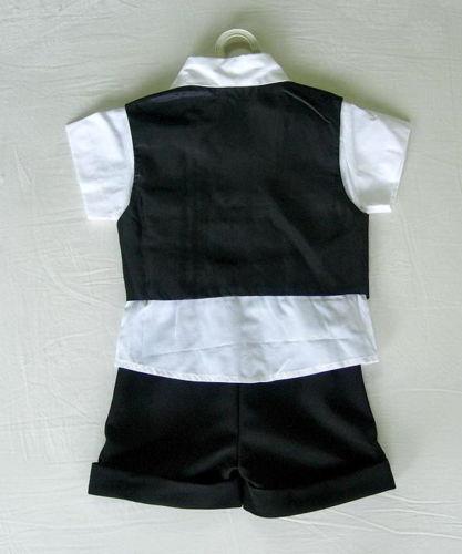 Letní černý oblek pro miminko, 6 měsíců až 3 roky , 98