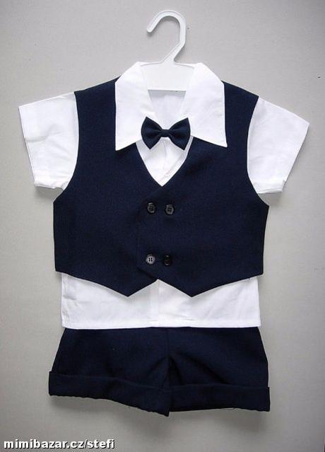 Letní oblek pro miminko - 1-2 roky - půjčovné, 80