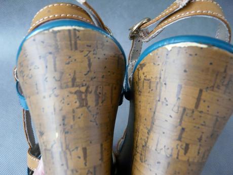Letní obuv na klínku, 38-39, 38
