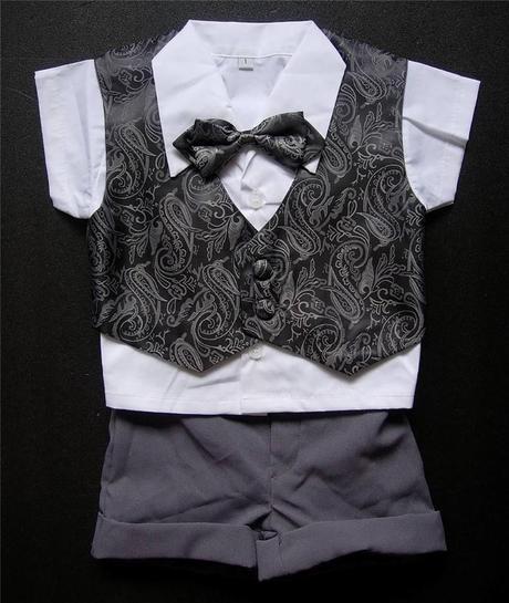 Letní šedý oblek 6m-3 roky - půjčovné, 80