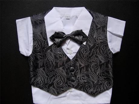 Letní šedý oblek 6m-3 roky - půjčovné, 92