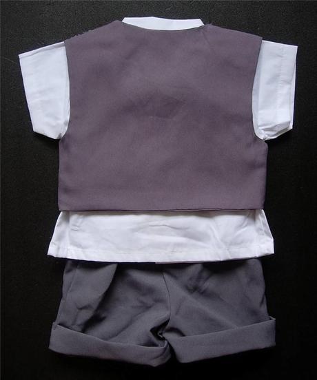 Letní šedý oblek 6m-3 roky - půjčovné, 98