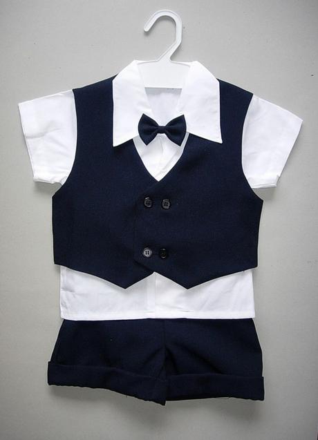 Letní tmavě modrý oblek 6m-3 roky - půjčovné, 80