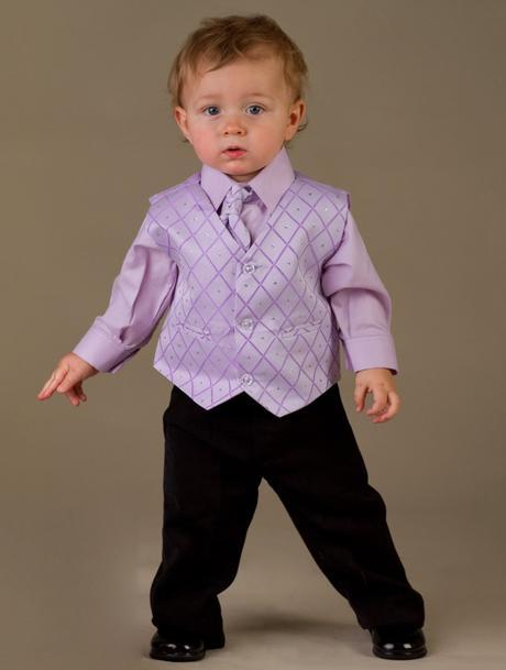 Lilla, světle fialový oblek k půjčení - 12-18 měsí, 86