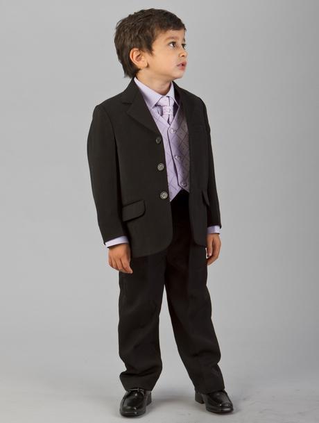 Lilla, světle fialový oblek k půjčení se sakem, 80