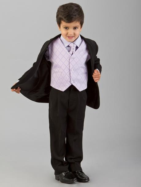 Lilla, světle fialový společenský oblek, k zapůjče, 104