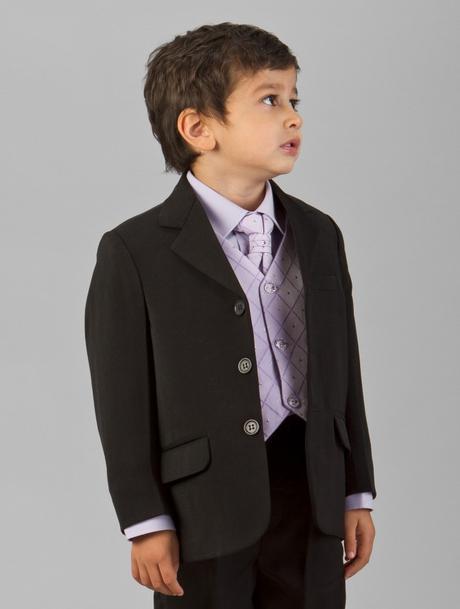 Lilla, světle fialový společenský oblek, k zapůjče, 116