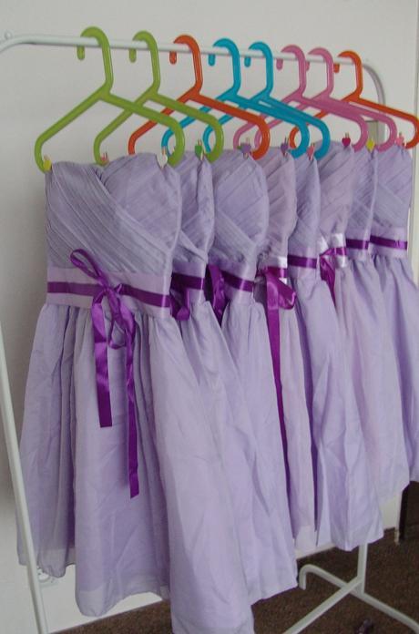 Lilla uni šaty pro družičky, k zapůjčení, 36