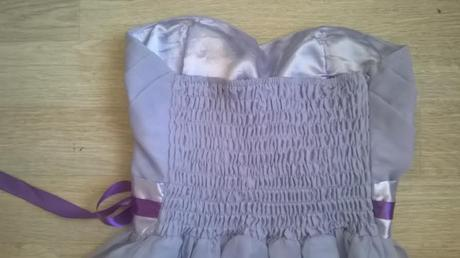 Lilla uni šaty pro družičky, k zapůjčení, 38