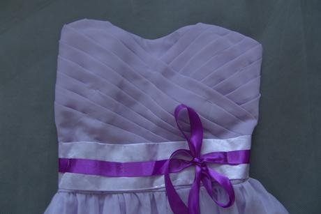 Lilla uni šaty pro družičky, k zapůjčení, S
