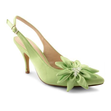 Limetkové, zelené svatební lodičky, 36-41, 36