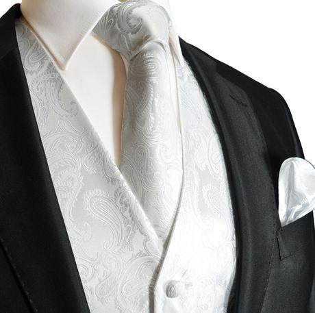 MINT - pánský set, vesta, kravata a kapesníček, 36