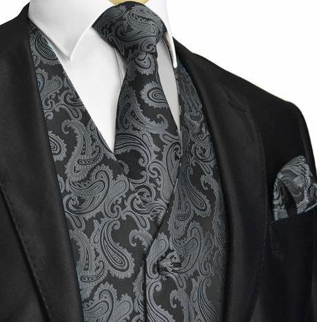 MINT - pánský set, vesta, kravata a kapesníček, 54