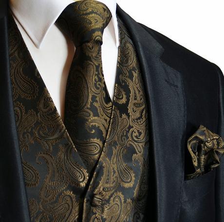 MINT - pánský set, vesta, kravata a kapesníček, 62