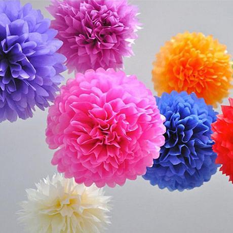 Modrá dekorace květiny 10x bílá, 10x modrá ,