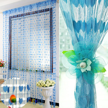 Modrá záclona - dekorace na stan či do okna,