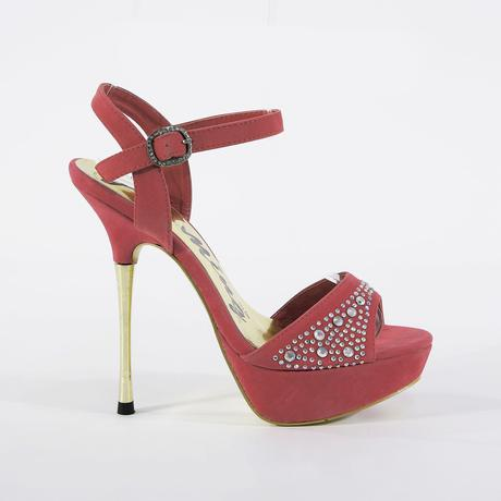 Modré extravagantní sandálky, 14cm podpatek, 36-41, 39