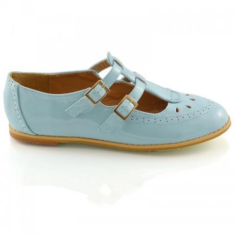 Modré pastelové retro lodičky, 36-41, 37