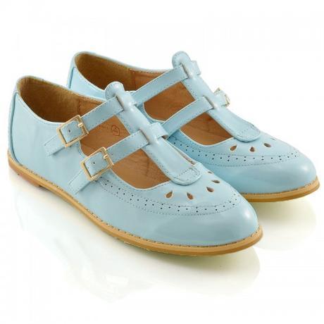Modré pastelové retro lodičky, 36-41, 38