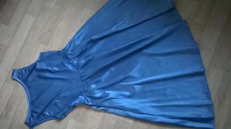 Modré šaty na převlečení, společenské, styl 50 let, 36
