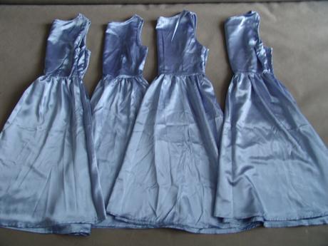 Modré společenské šaty, S-L, 42
