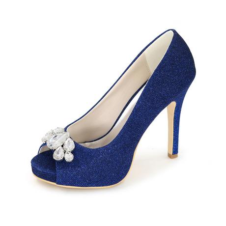 Modré společenské, svatební lodičky, 38