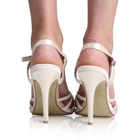Modré svatební sandálky, 36-41, 37