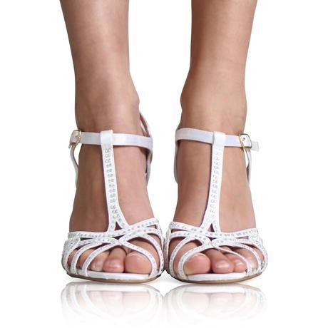 Modré svatební sandálky, 36-41, 38
