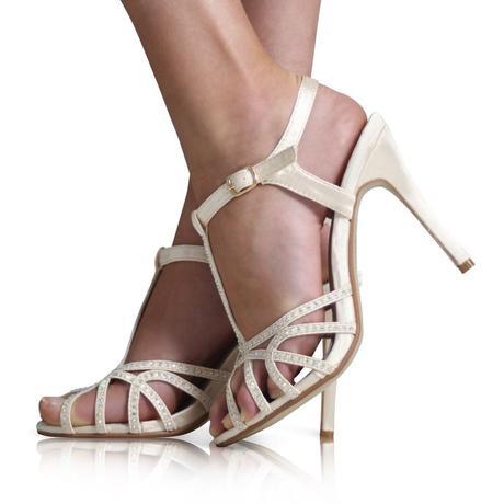Modré svatební sandálky, 36-41, 39