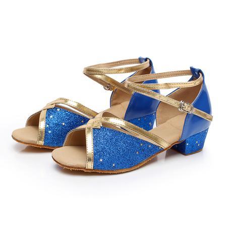 Modré taneční sandálky, pro družičky, 24-38, 34