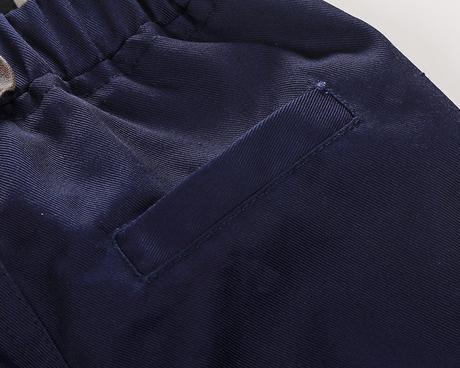 Modrý oblek se kšandy, svatební, společenský k zap, 92