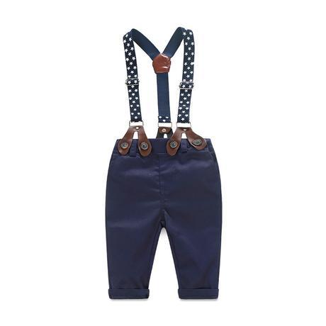 Modrý, šedý - společenský, svatební oblek k zapůjč, 98