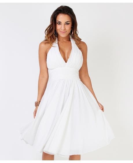 NOVINKA - bílé svatební šaty, popůlnočky, společen, 36
