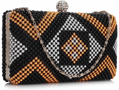 NOVINKA - černé extravagantní lodičky, kabelky, 37