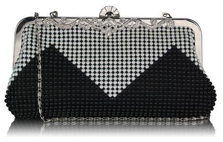 NOVINKA - černé extravagantní lodičky, kabelky, 39