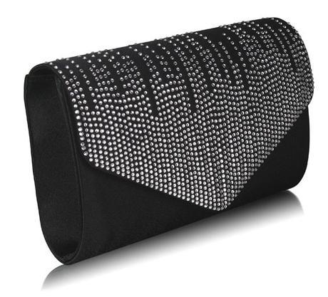 NOVINKA - černé extravagantní lodičky, kabelky, 41