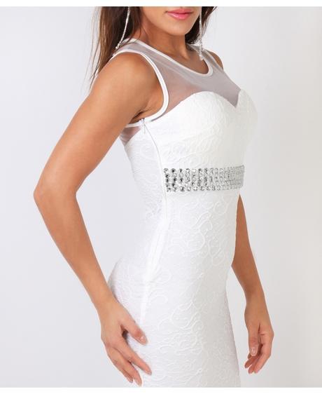 NOVINKA - černé krajkové společenské šaty, 36
