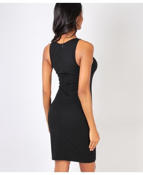 NOVINKA - černé sexy společenské šaty, S,M,L, 38