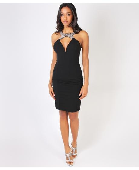 NOVINKA - černé sexy společenské šaty, S,M,L, M