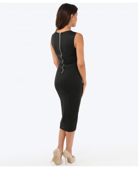 NOVINKA - černé společenské šaty, 40