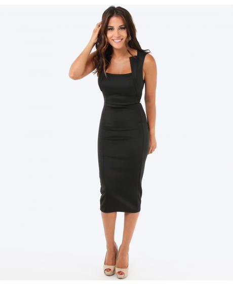 NOVINKA - černé společenské šaty, 46
