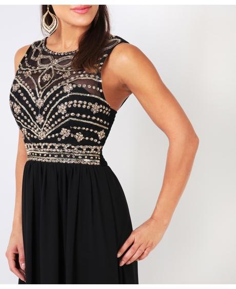 NOVINKA - černé společenské šaty, S,M,L, 36