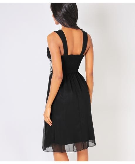 NOVINKA - černé společenské šaty, S,M,L, 38